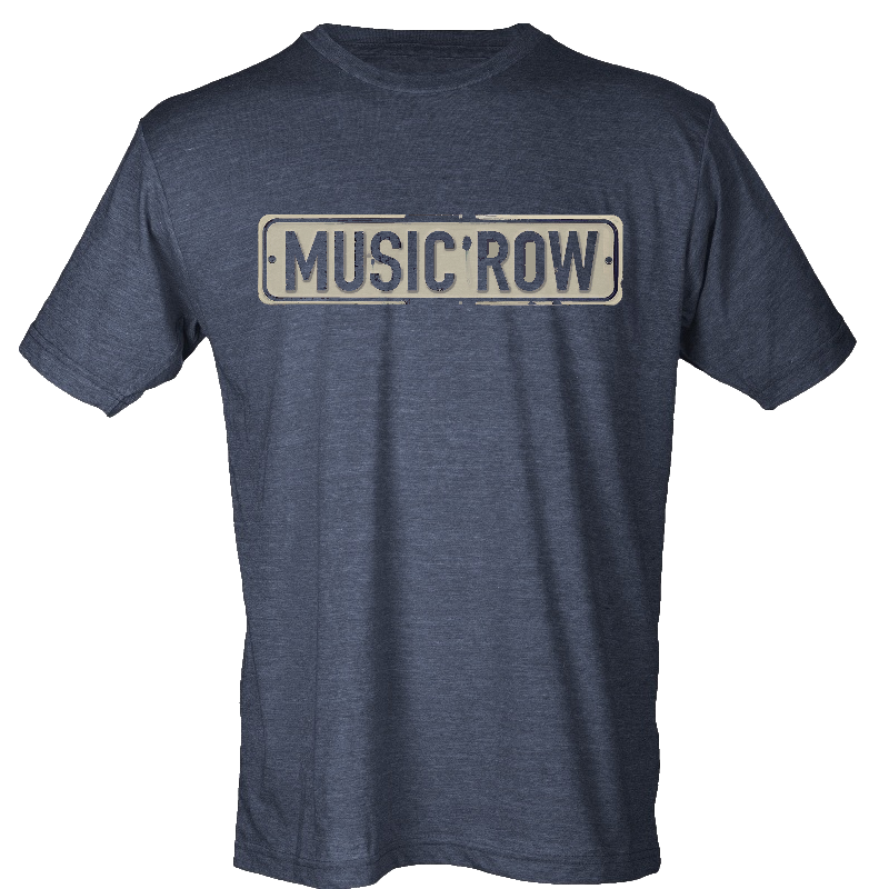 Music Row Heather Navy Street Sign Tee