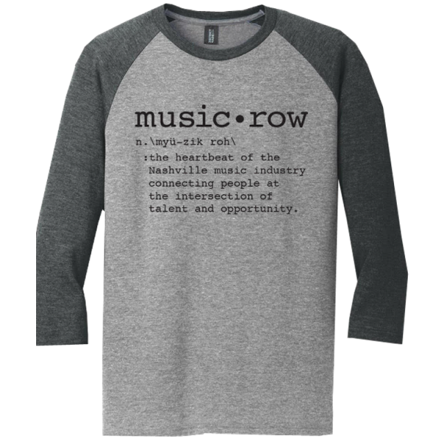 Music Row Heather Grey and Charcoal Definition Raglan Tee