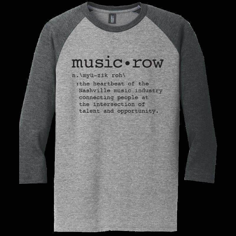 Music Row Heather Grey and Charcoal Definition Raglan Tee
