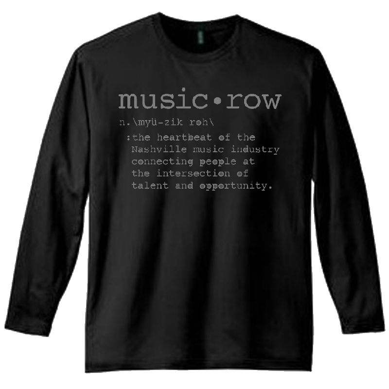 Music Row Long Sleeve Black Definition Tee
