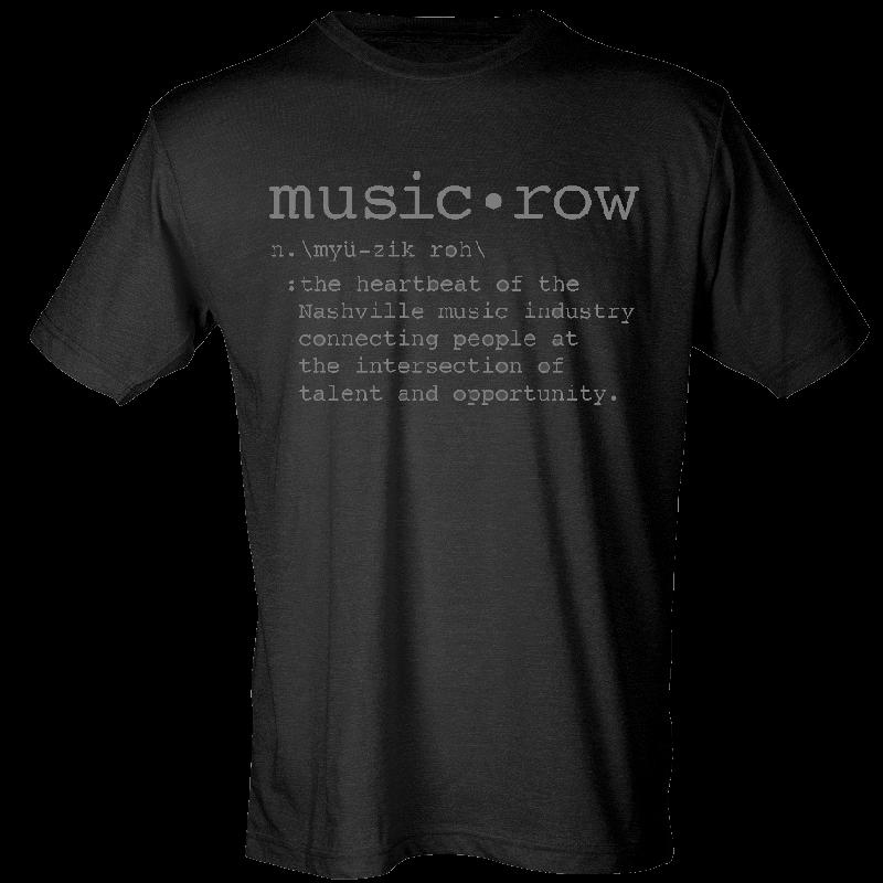 Music Row Black Definition Tee