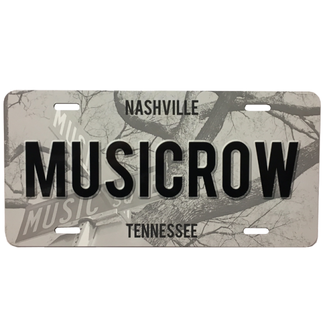 Music Row License Plate