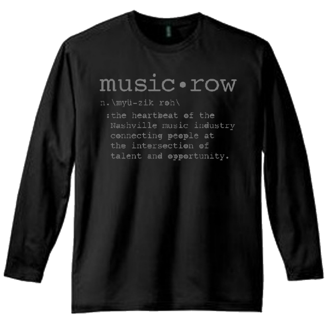 Music Row Long Sleeve Black Definition Tee