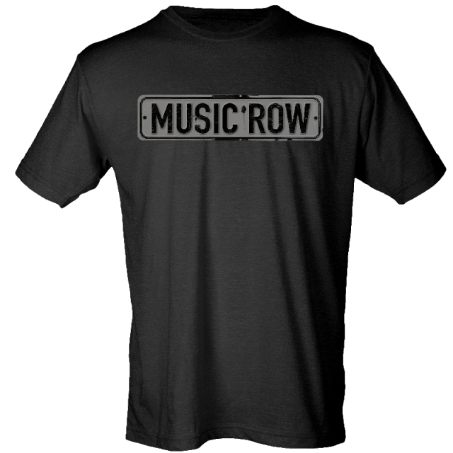 Music Row Black Street Sign Tee