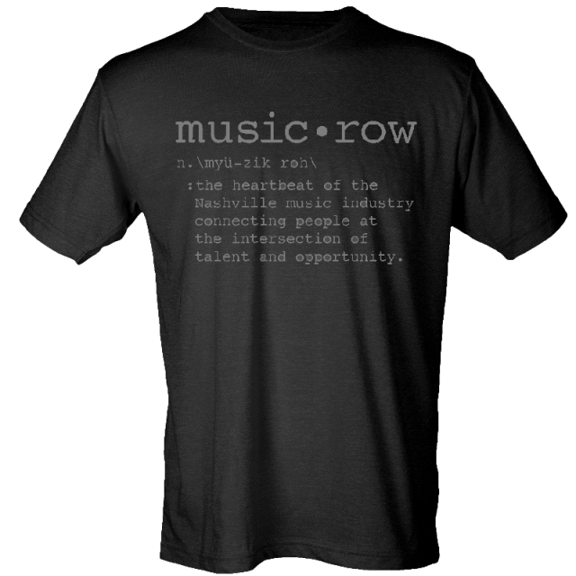 Music Row Black Definition Tee