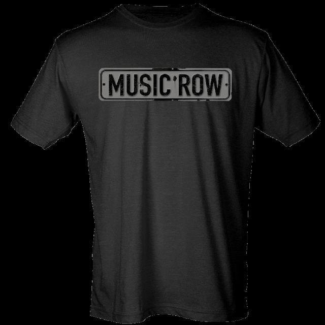 Music Row Black Street Sign Tee