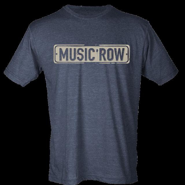 Music Row Heather Navy Street Sign Tee