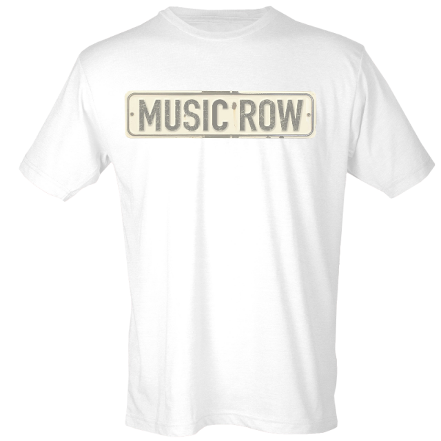 Music Row White Street Sign Tee